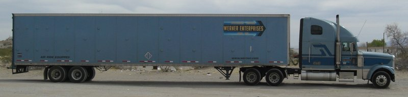 Truck with label Werner Enterprises